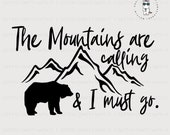 The Mountains Are Calling SVG, Cut File, Digital File, Mountains SVG, Great Smoky Mountains SVG