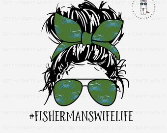 Fishermans Wife Life Ready To Press Sublimation Transfer
