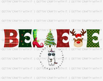 Christmas Believe Ready to Press Sublimation Transfer