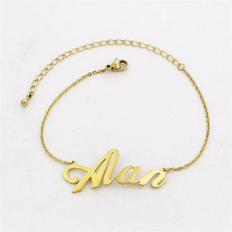Personalized name anklet \u2022 Christmas gift \u2022 women gift \u2022 anklet with name \u2022 gift for women \u2022 name anklet \u2022 anniversary gift \u2022 trendy anklet