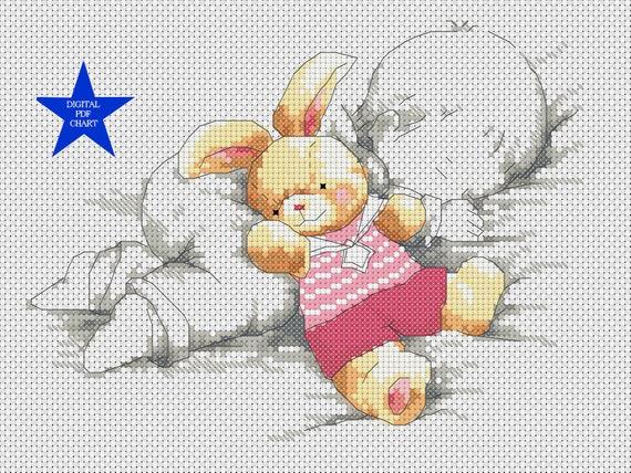 Birth announcement boy Baby room ALPHABET girl birthday diy gift nursery sampler new baby Disney Lilo /& Stitch cross stitch pattern pdf