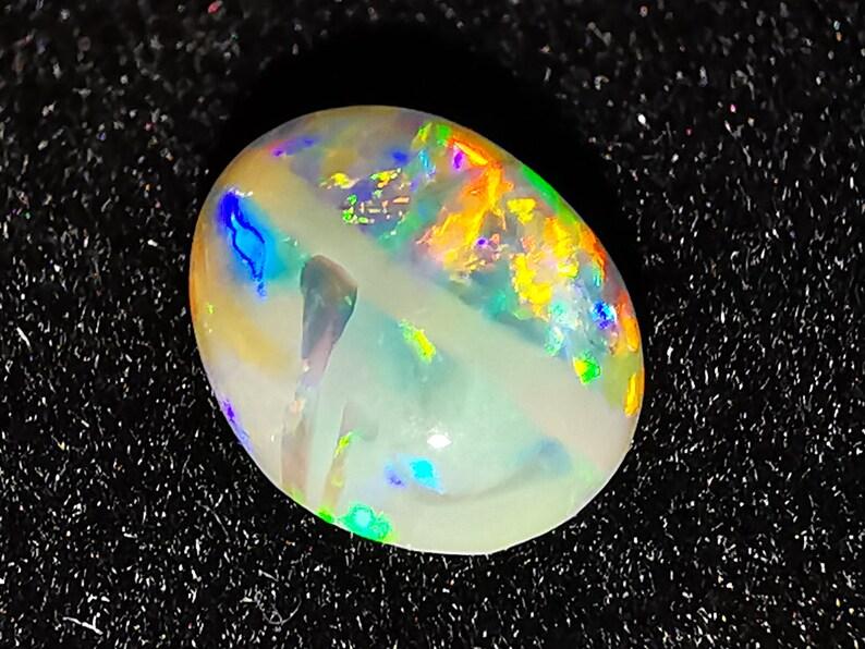 0.72 Cts Lightning Ridge Australia Natural Solid Australian Opal Video Loose Gemstone Super Bright Crystal Opal