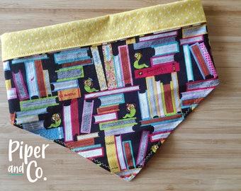 Back to School Teacher's Pet | Fall Reversible Dog Bandana w/ Personalization | Add matching scrunchie bow, hair tie or skinny scarf