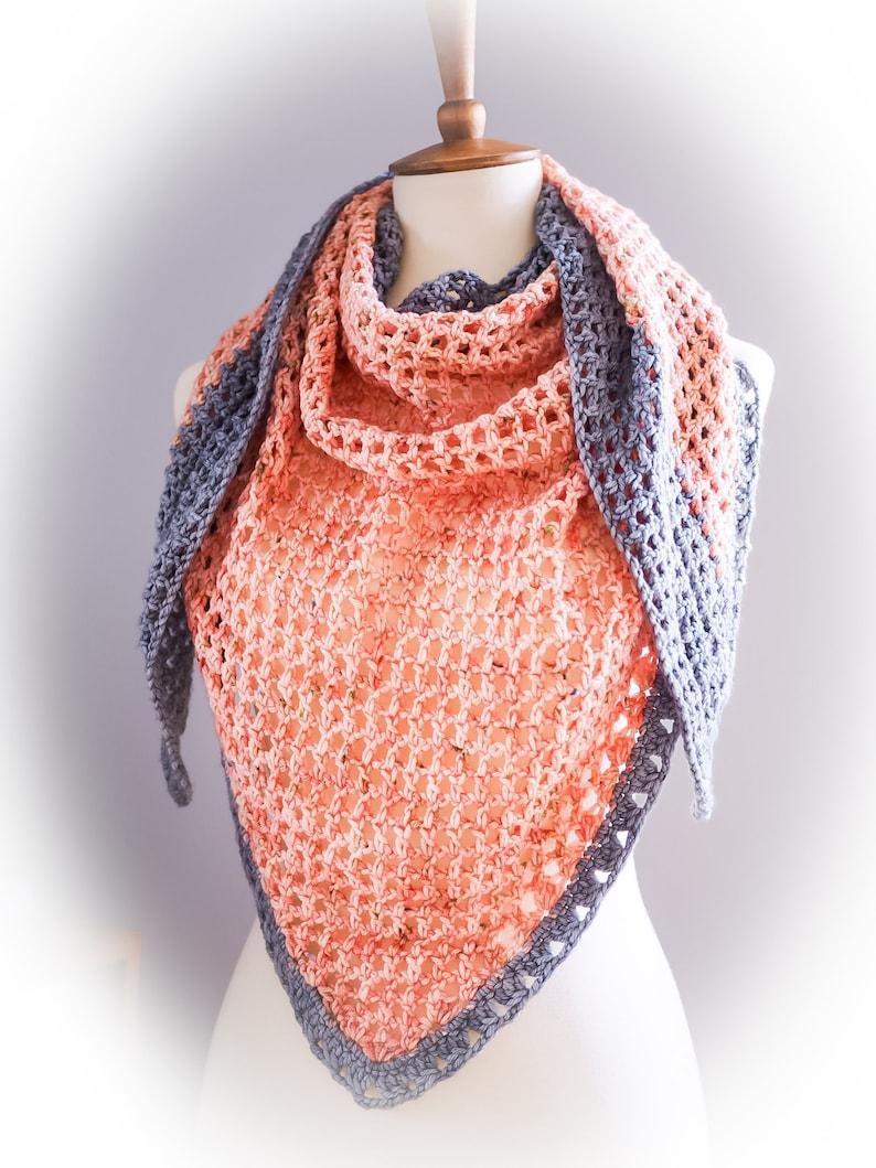 Easy Crochet Wrap Pattern  Savannah Summer Shawl Instant image 0