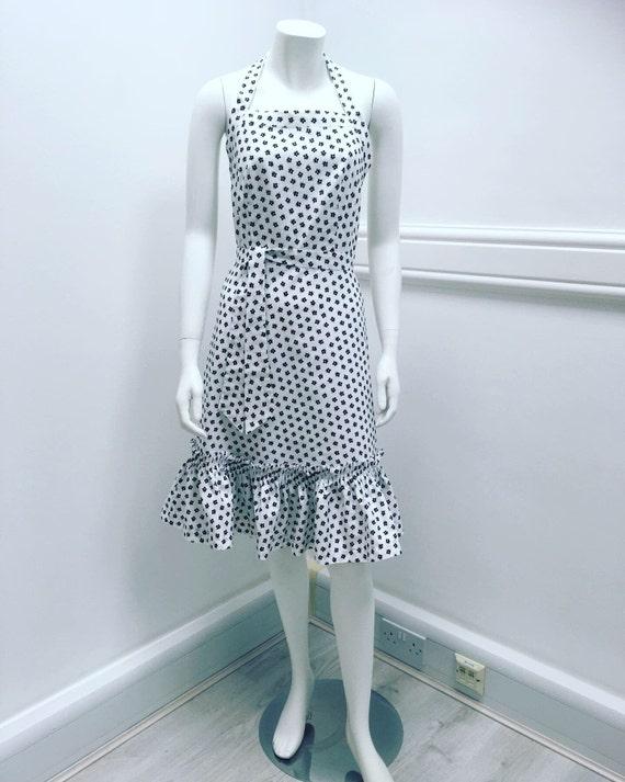 Cute Vintage 1950's Halter Dress - image 3