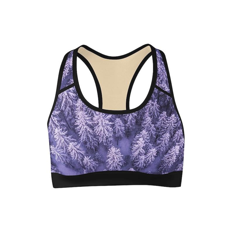 Purple Winter Sports Bra