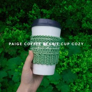 Shells Coffee Beanie Cup Cozy Crochet Pattern-Instant Download-Digital Download-PDF Pattern-Crochet Cup Cozy-Starbucks Cup Cozy