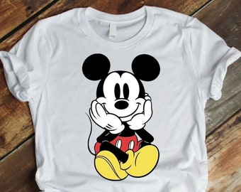 Disney Mickey Mouse Gray Short Sleeve Men/'s T-Shirt Vintage Printing NWOT