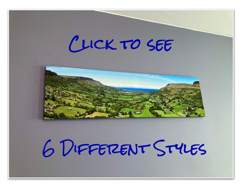 The Panoramic Collection  Irish Landscape Canvas Drone image 0