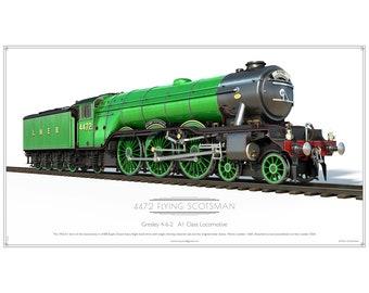Flying Scotsman Express steam engine Enamel Pin Badge