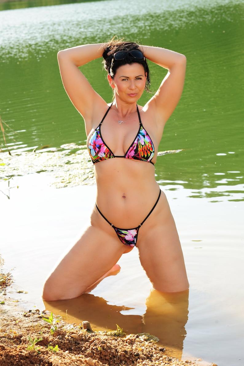 Dubio Bikini Surprise Jungle Print Crotchless Extreme