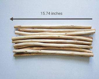 Wooden dowel for macrame making or fibre art 40cm long sticks