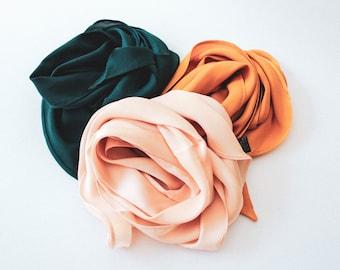 Silk scarves - Luxury silk silk head band and neck scarf head band satin eye mask