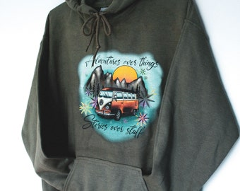 """""""Adventure over Things Stories Over Stuff"""" vest"""