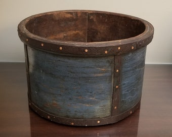 Vintage copper coal bucket scuttle log basket wood storage firewood fire pit tool french plannished artisan handmade gifts housewarming idea