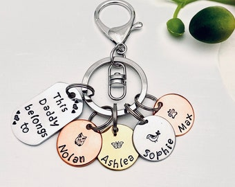 Valentines Day Gift Keychain for MomGrandma This Mom belongs to Family Tree Gift Children/'s Name Keychain Personalized Gift
