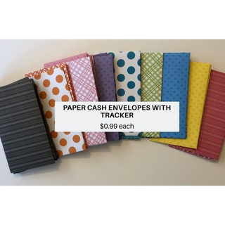 PAPER CASH ENVELOPE with budget tracker, cash system, money, Dave Ramsey inspired, budgeting