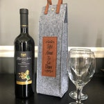 Reusable Flannel Wine Protector Tote Carrier Bag perfect as a gift or taking to a party! Custom engraved!