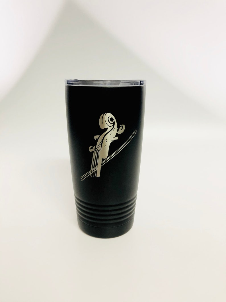 Violin 20 oz insulated tumbler Laser Engraved Cup Stainless image 0