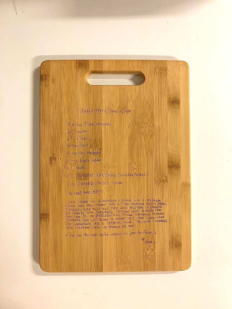 Bamboo Cutting Board Personalized gift Engraved handmade image 0