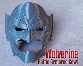 Wolverine Battle Armored Cowl Helmet Mask for Cosplay