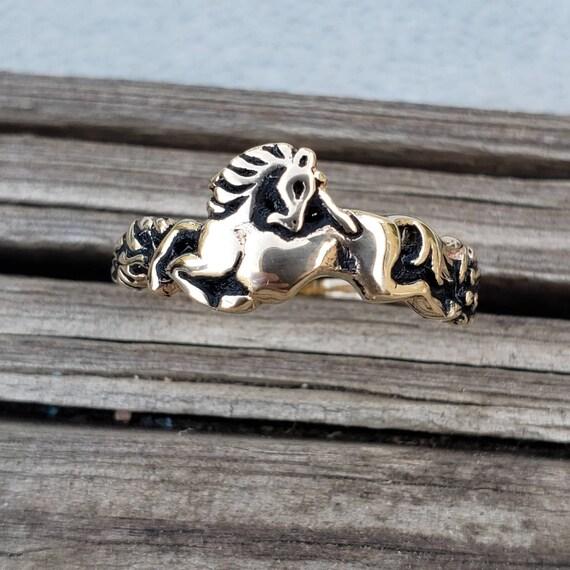 Unicorn Band 14k Yellow Gold / Gold Unicorn Ring /