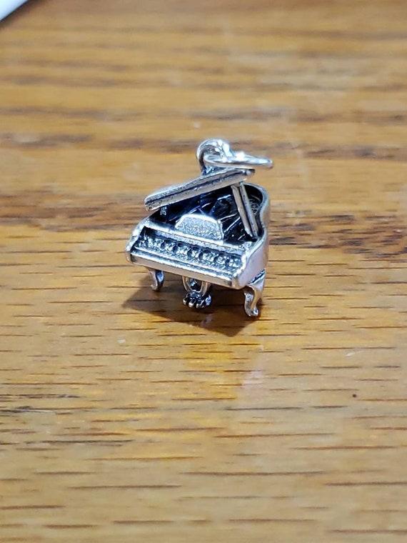 Piano Charm / Sterling Silver / Grand Piano / Char