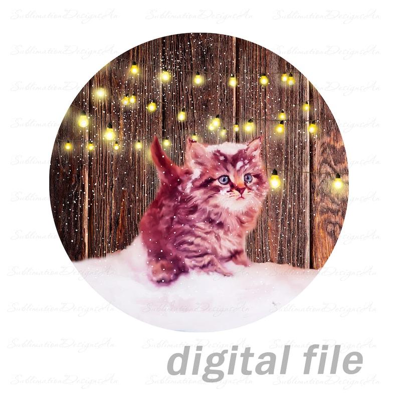 \u0421ute kitten aparecium hanger decor farmhouse round sublimate designs download for shirt t-shirt design mugs pillows