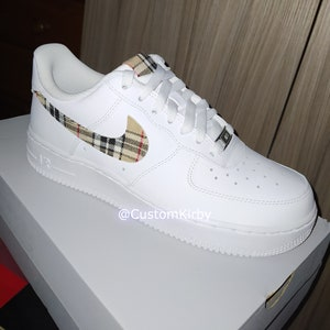Mens Custom Plaid Tartan Nike Air Force