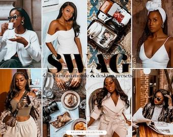 4 Bright Melanin Presets| Best Brown Dark Skin Black Blogger Girl, Luxury Black Girl Magic Lightroom Mobile & Afro American Desktop Preset