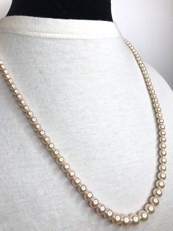 Marvella Faux Pearl Necklace - image 3