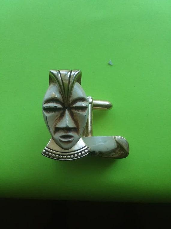 Rare Nice Cuff Links, Egyptian Cuff links, Tribal