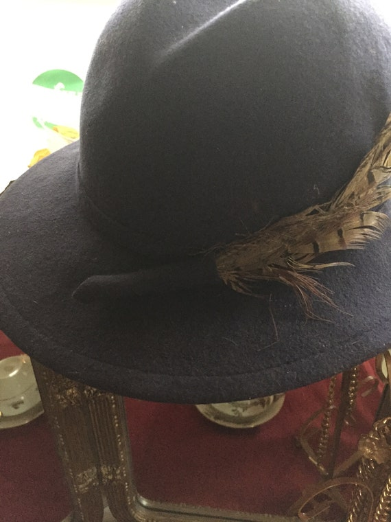 Fedora Hat with Feather, Women's Wool Fedora Hat,… - image 10