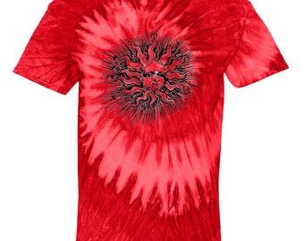 Red Swirl Tie Dye