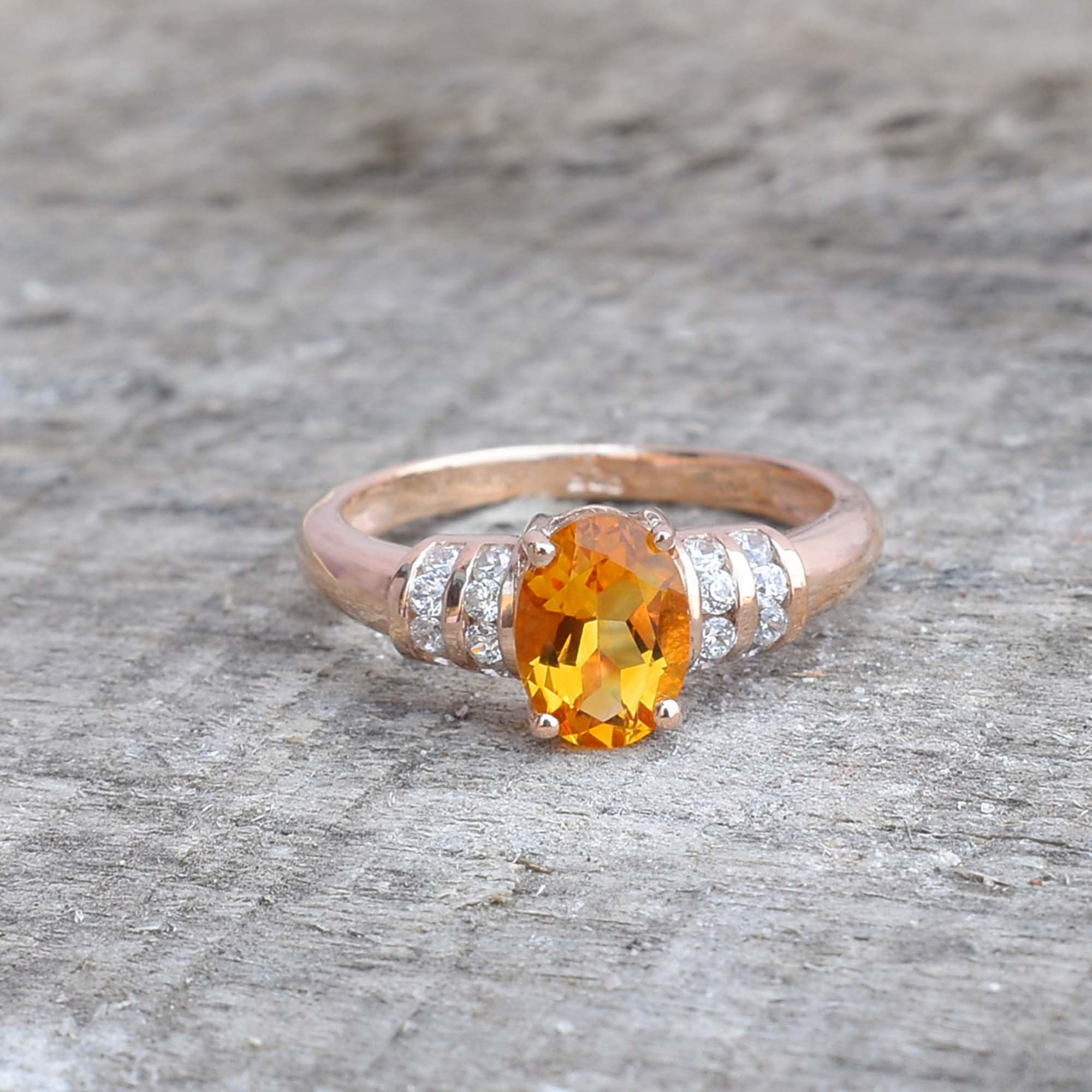 Silver Ring Rings For Women Yellow Ring Engagement Ring May Gift Statement Ring Citrine ring Gift For Sis November Birthstone