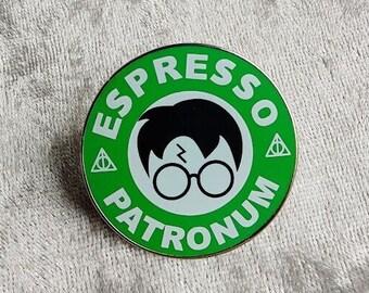 Harry Potter 'Espresso Patronum' Enamel Pin - Perfect for Potterheads