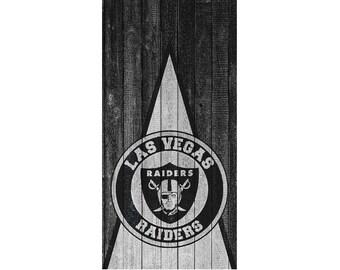 Oakland Raiders Cornhole Set Of 6 Vinyl Decal Stickers Bean Bag Toss Game Nfl