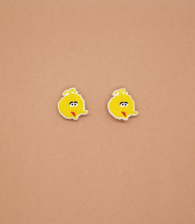 Big Bird and Oscar Shoe Charms Crocs And Clog Jibbitz Wristband Set of 4 Sesame Street