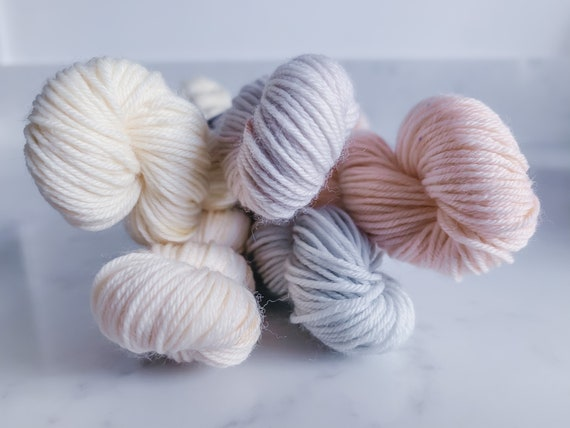 Delicate Neutral Tonal Yarn Mini Bundle