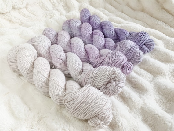 Storm Cloud Fade Set on sock or DK, full or mini skeins