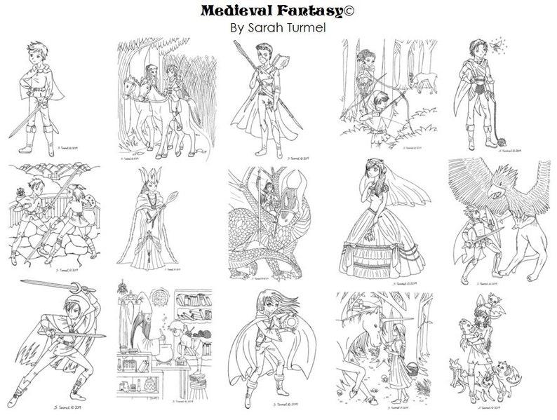 - Medieval Fantasy Coloring Book Etsy