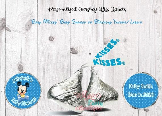 216 MICKEY 1ST BIRTHDAY MINNIE 1ST BIRTHDAY HERSHEY KISS LABELS