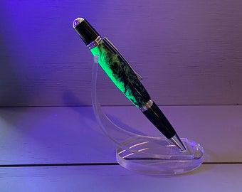 The Black Light Special - A Wall St. II Pen made of Fluorescent Resin