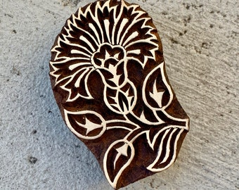 chocolate Textile OR polymer Clay OR fondants Fly Bug Stamp Wood Stamp for Pottery Hand carved patterntexture stamp for fabric