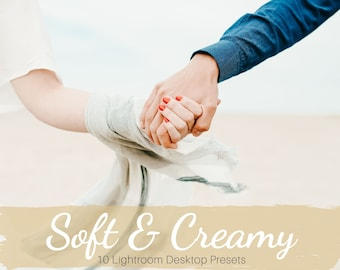 10 Lightroom Soft and Creamy Desktop Presets, Bright & Muted Presets, Lifestyle Photography, Portrait, Wedding, Couple, Dreamy