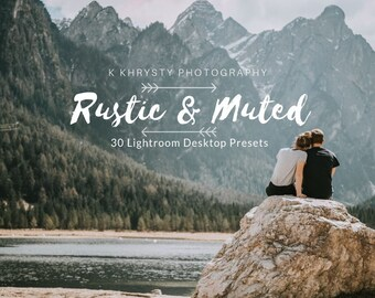 30 Lightroom Rustic and Moody Desktop Presets, Moody and Muted Presets, Lifestyle Photography, Portrait, Wedding, Couple, Dreamy Outdoor