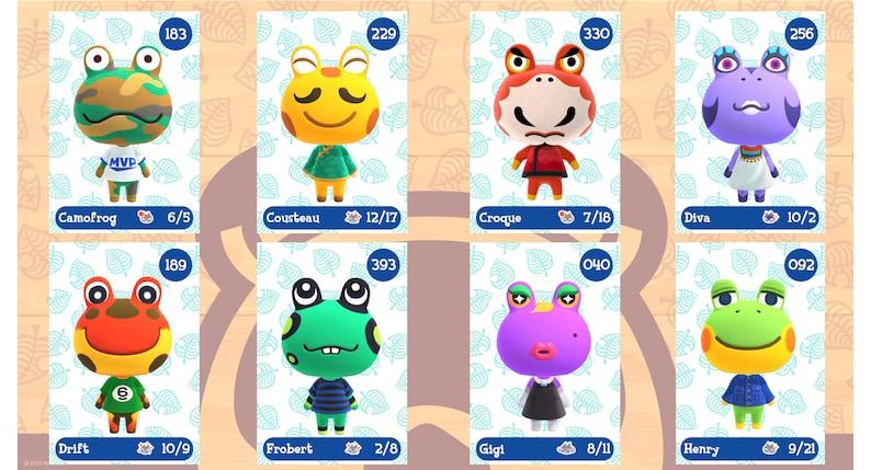 Handmade Frog Amiibo Animal Crossing Villager   Etsy