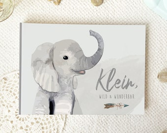 BABY ALBUM   First year   Elephant   To fill in   104 pages   Milestones   1st Baby Year   Birth Album   Gift   Watercolor