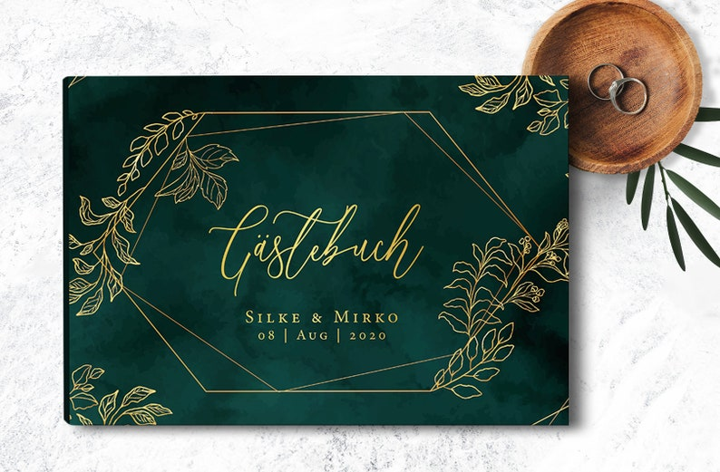 Gästebuch Hochzeit Smaragd