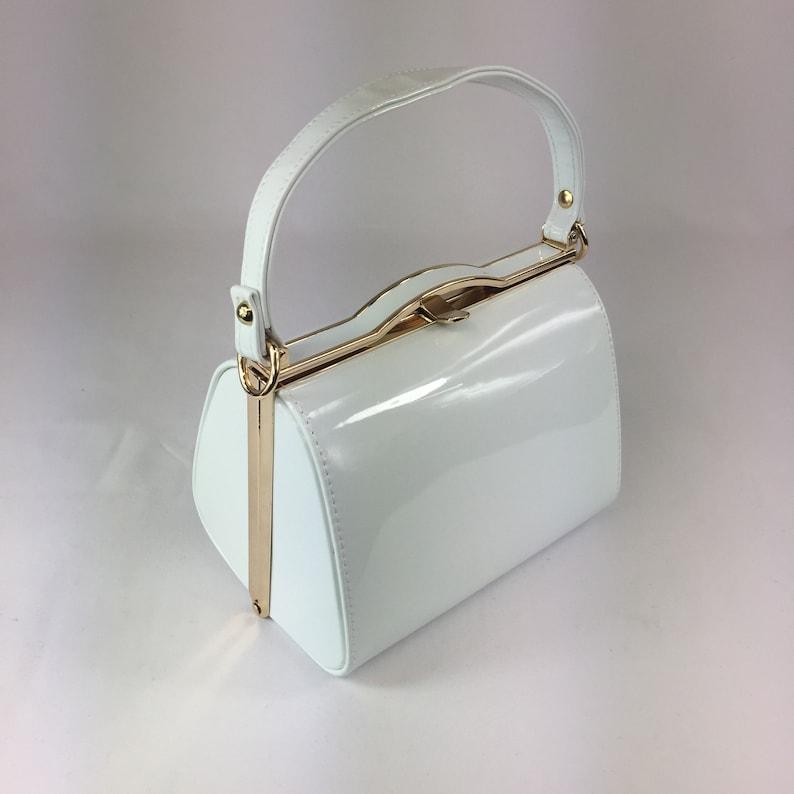Vintage Handbags, Purses, Bags *New* Classic Kelly Handbag in White - Vintage Inspired $55.85 AT vintagedancer.com